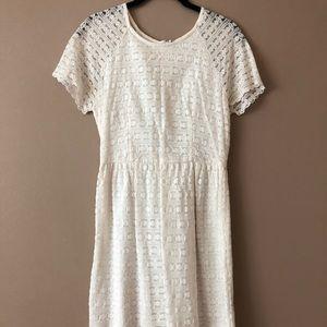 Free Poeple cream lace dress